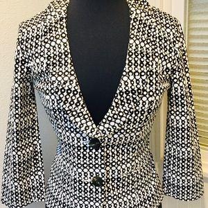 CAbi Black & White Blazer Style No. 298 Size 2